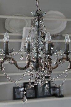 MIA home passion - Żyrandol z kryształkami szary II