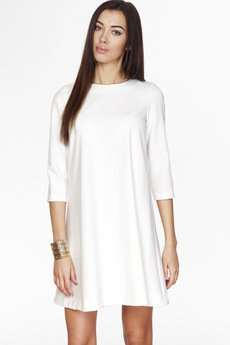 ABG - Kremowa sukienka z zamkiem