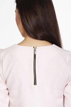 ABG - Różowa sukienka z zamkiem