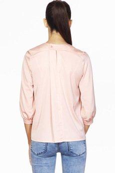 ABG - Różowa bluzka ze zdobionym dekoltem