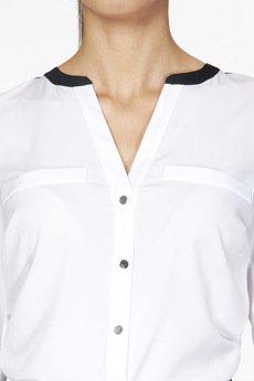 ABG - Biała bluzka z imitacją kieszeni