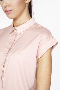 ABG - Różowa koszula z ozdobnym guzikiem