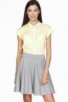 ABG - Cytrynowa koszula z ozdobnym guzikiem
