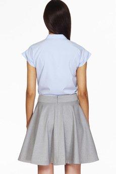 ABG - Błękitna koszula z ozdobnym guzikiem