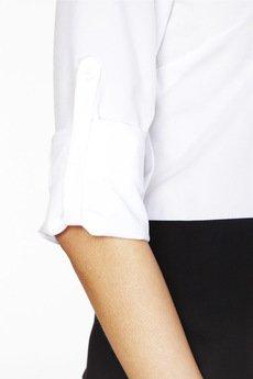 ABG - Biało czarna koszula z podwijanym rękawem