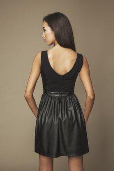 ABG - Sukienka skórzana czarna