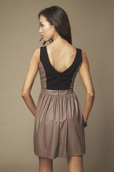 ABG - Sukienka skórzana brązowa