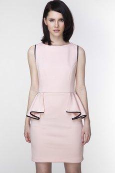 ABG - Różowa sukienka z baskinką