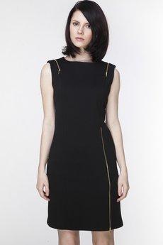 ABG - Czarna sukienka z ozdobnymi zamkami