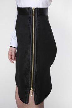 ABG - Czarna spódnica z dwustronnym suwakiem