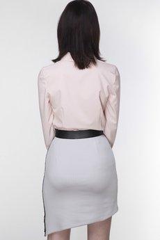 ABG - Szara spódnica z dwustronnym suwakiem