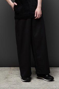 MALE-ME - Spodnie ULTRAszerokie  CZARNE 