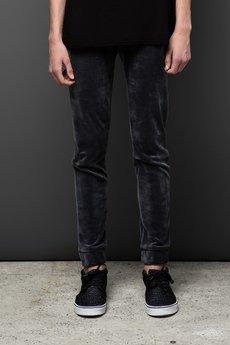 - Spodnie dresowe UNIVERSUM z weluru |SZARE|