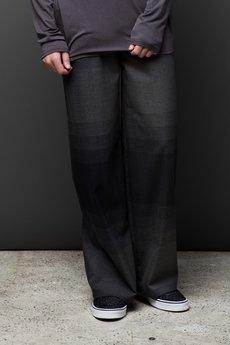 MALE-ME - Spodnie ULTRAszerokie |SZARA KRATA|