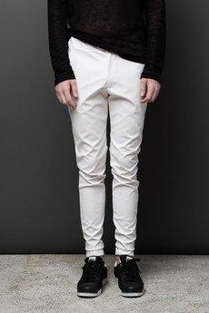 MALE-ME - Spodnie UNIVERSUM ze skóry ekologicznej |BIAŁE|