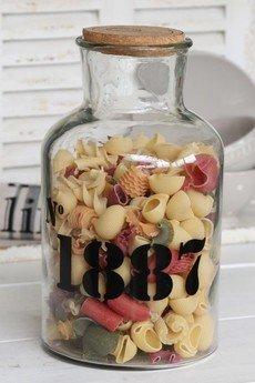 - Butelka szklana z numerem