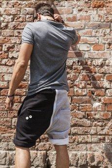 Button - SHORT dual PANTS 2 BUTTONS UNISEX kolory