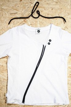 Button - T-SHIRT ZIPPER TEE UNISEX kolory