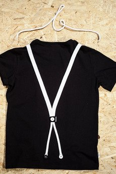 Button - T-SHIRT SUSPENDER TEE UNISEX kolory