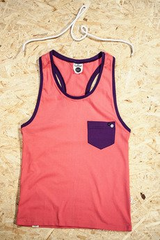 Button - TANK TOP ONE POCKET UNISEX kolory