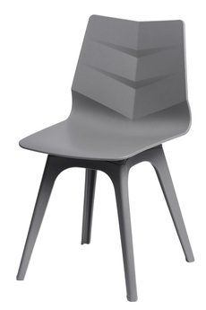 MIA home passion - Krzesło Leaf szare z szarą podstawą