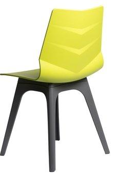MIA home passion - Krzesło Leaf limonkowe z szarą podstawą
