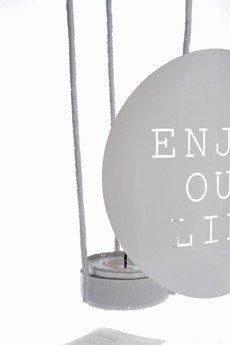 MIA home passion - Lampion szklany Enjoy Your Life większy