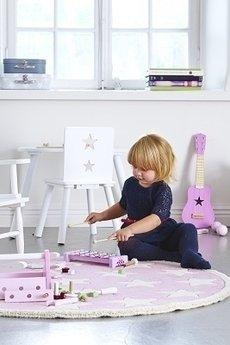 MIA home passion - Krzesełko bujane z gwiazdą białe