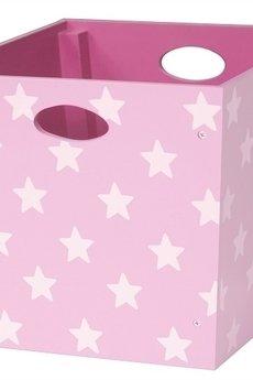 MIA home passion - Pudełko w gwiazdki, różowe