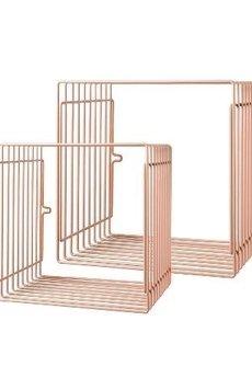 MIA home passion - Półka metalowa 2 szt. różowa