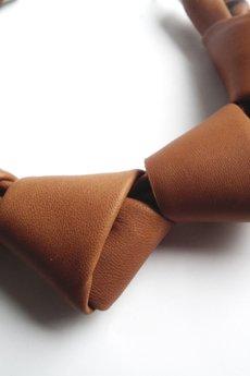 Mikashka - Naszyjnik skórzany karmelowy LOOPed