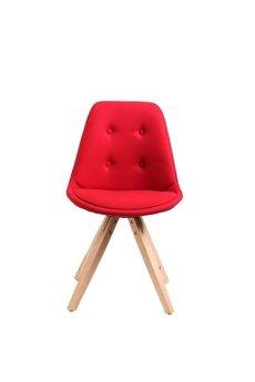 MIA home passion - Krzesło Nord Star pikowane czerwone