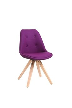 MIA home passion - Krzesło Nord Star pikowane fioletowe