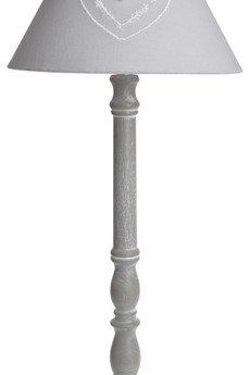MIA home passion - Lampa szara z abażurem z sercem