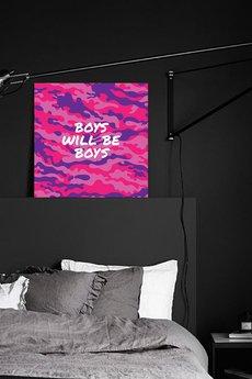 NY26 - CANVAS - OBRAZ NA PŁÓTNIE - BOYS WILL BE BOYS
