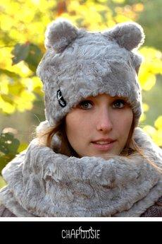CHAPOOSIE - Czapka CHAPOOSIE Silver BEAR Pooh