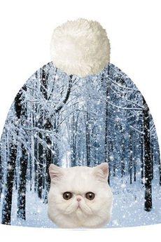 HAUER - Czapka hauer CAT IN FOREST