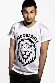 ŁAP NAS - Koszulka Męska Nie drażnij Lwa