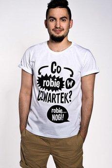 ŁAP NAS - Koszulka Męska Co robię w czwartek