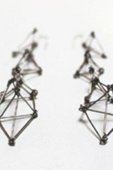 Dlugie geometryczne kolczyki ze stali futuristika 815d2f 7b25e5
