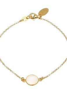 Jelly - Jelly - Złota lub srebrna bransoletka z kamieniem księżycowym