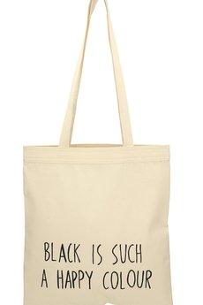Letter Bag - Black is such a happy colour Letter Bag