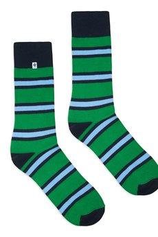 4LCK - 4LCK Kolorowe modne skarpetki w zielone paski