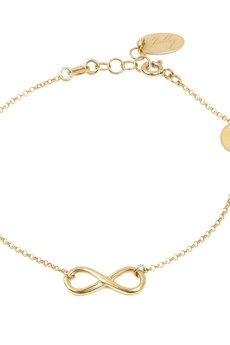 Jelly - Jelly - Złota lub srebrna bransoletka ze znakiem nieskończoności i kółkiem