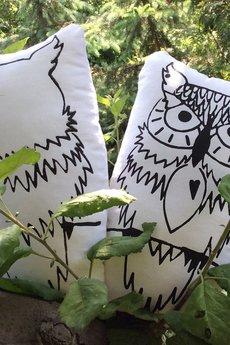 Sus Kids - Sowa Uhuu-pluszowa dwustronna kolorowanka