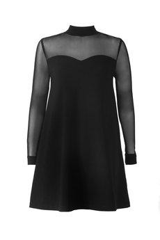 JO-LI - Sukienka z połączenia dzianiny i siatki