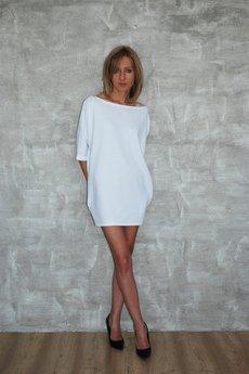 Dresowa sukienka moon biala 03301f