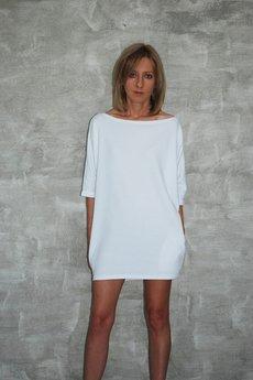 Dresowa sukienka moon biala b1de1c