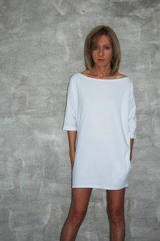Dresowa sukienka moon biala f6f12a