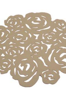 BOOGIE - ROSES kpl. 4 okrągłych podkładek pod talerz